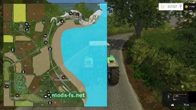 Схема карты Sandy Bay