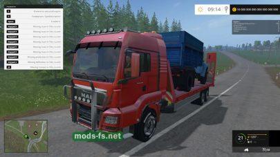Мод тягача для транспортировки техники