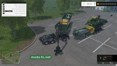 Мод погрузчика деревьев в Farming Simulator 2015
