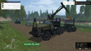 Урал-4320 с манипулятором