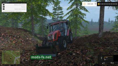 Zetor Proxima 120 для работы в лесу