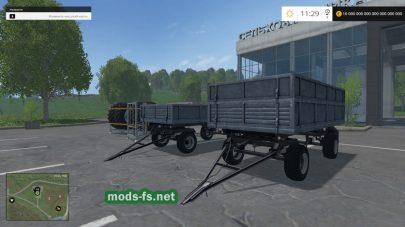 Два прицепа для перевозки зерна в FS 2015