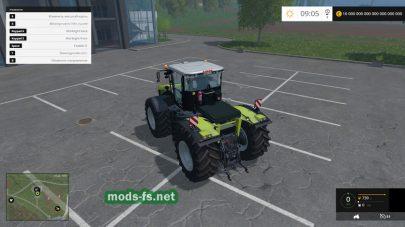 Большой трактор CLAAS Xerion 4500