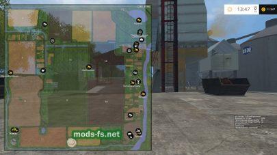 Схема местности на карте