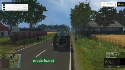 Русская деревня в игре Farming Simulator 2015