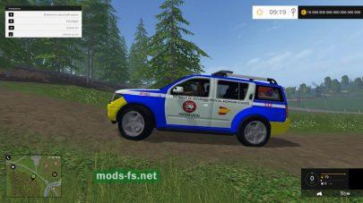 Мод автомобиля Nissan Pathfinder Police