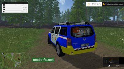 Полицейский Nissan Pathfinder для FS 2015