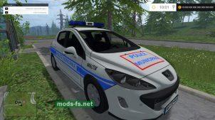 Полицейский автомобиль Peugeot 308