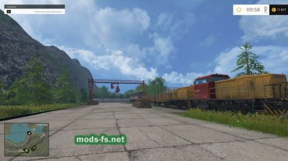товарный поезд в игре FS 2015