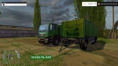 MAN Grain с прицепом для игры Farming Simulator 2015