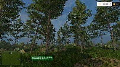 Лес на карте «Chrzaszczyzewoszyce»