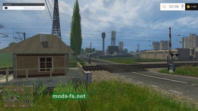 Железнодорожный переезд в игре Фермер Симулятор 2015