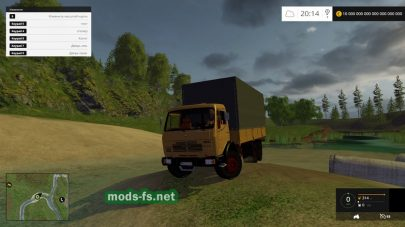 Грузовой автомобиль Mercedes-Benz для Farming Simulator 2015
