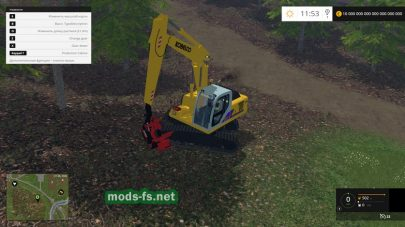 Погрузчик бревен в Farming Simulator 2015