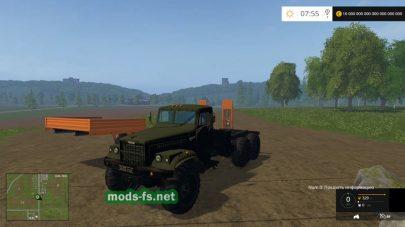 КрАЗ-255 для перевозки техники