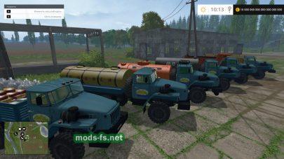 Набор грузовиков УРАЛ для Farming Simulator 2015