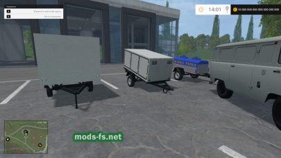 Прицепы для УАЗов в игре FS 2015