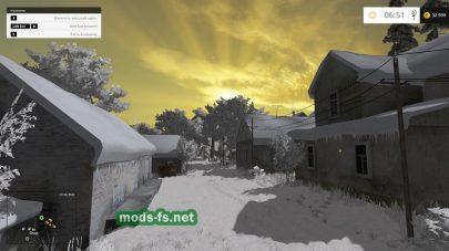 Карта для Farming Simulator 2015 на которой все в снегу