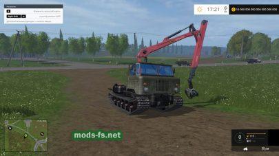 Мод ГАЗ-66 на гусеницах с манипулятором