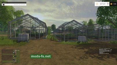 Карта с теплицами для Farming Simulator 2015