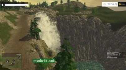 Водопад на карте Еленовка