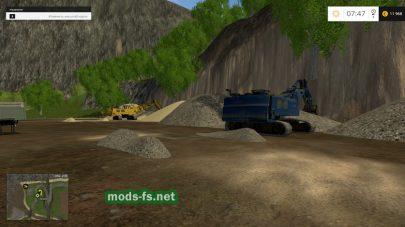 Песчаный карьер в игре Фермер Симулятор