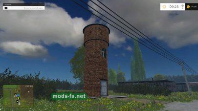 Водонапорная башня в игре FS 2015