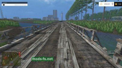 Деревянный мост на карте