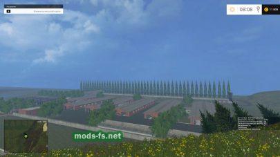 Ферма в игре FS 2015, на карте