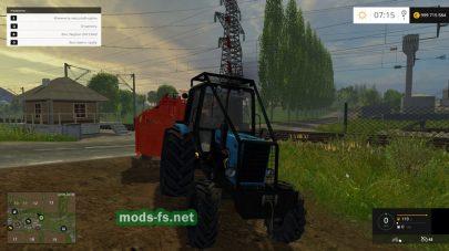 Мод МТЗ-82 с отвалом