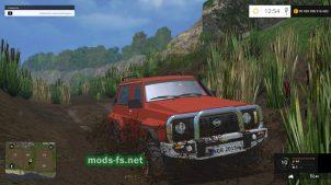 Мод Nissan Patrol GR для езды по болоту