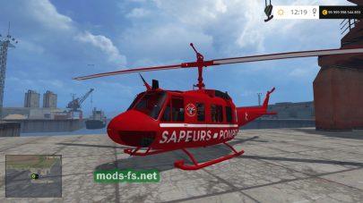 Мод вертолета, который летает в FS 2015