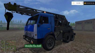 Мод крана КамАЗ для Farming Simulator 2015