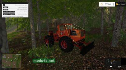 Трактор TAF-657 с откосом для FS 2015