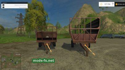 Мод прицепа для перевозки силоса и травы в игре FS 2015