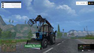 Мод погрузчика МТЗ для фермы