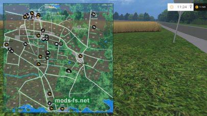 Схема большой карты «Речная долина V. 15.4.1»