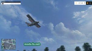Самолет на карте в Farming Simulator 2015