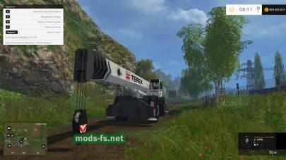 Мод TEREX RT130 для Farming Simulator 2015