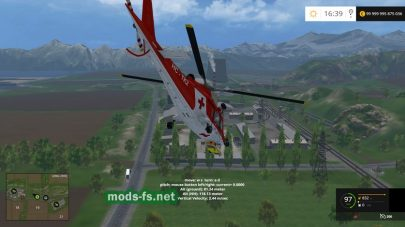 Вертолет Agusta A109 Secours для Farming Simulator 2015