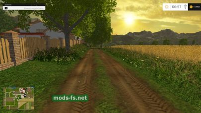 Грунтовая дорога в игре Farming Simulator 2015