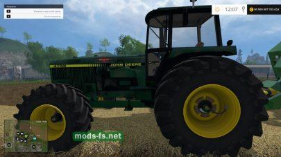 Трактор JOHN DEERE 4755 для игры FS 2015