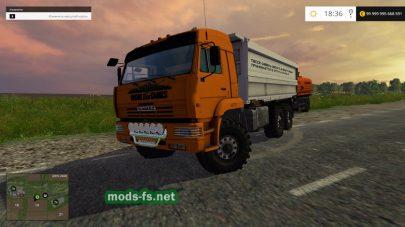 Мод КамАЗ-45143 с прицепами и бочкой