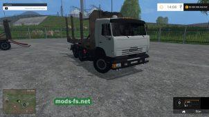КамАЗ 53212 для работы в лесу в игре FS 2015