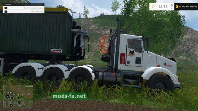 Большой грузовик Kenworth T800 для FS 2015