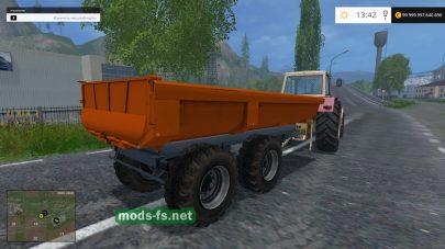 Прицеп для перевозки зерна и песка в игре FS 2015