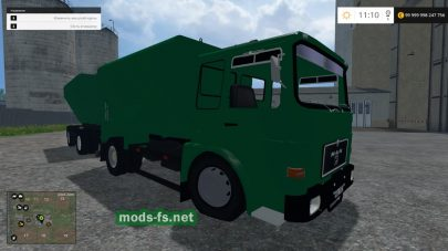 MAN F8 WITH LADEWAGEN