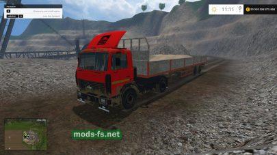 Тягач МАЗ-5551 с большим прицепом для FS 2015