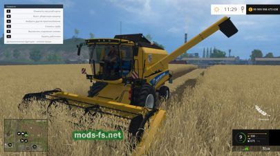 Мод New Holland CX8090 с тремя жатками