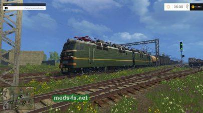 Поезд в игре FS 2015
